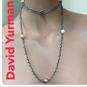🔴Authentic DAVID YURMAN Pearl Toggle Necklace 🔴